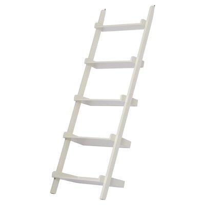 Brayden Studio Marinez Ladder Bookcase Color: Linen White