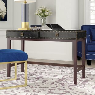Jaya Faux Leather Writing Desk