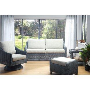 Great Deals Nevaeh 4 Piece Conservatory Sofa Set