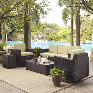 Belton 5 Piece Rattan Sofa Set with Cushions