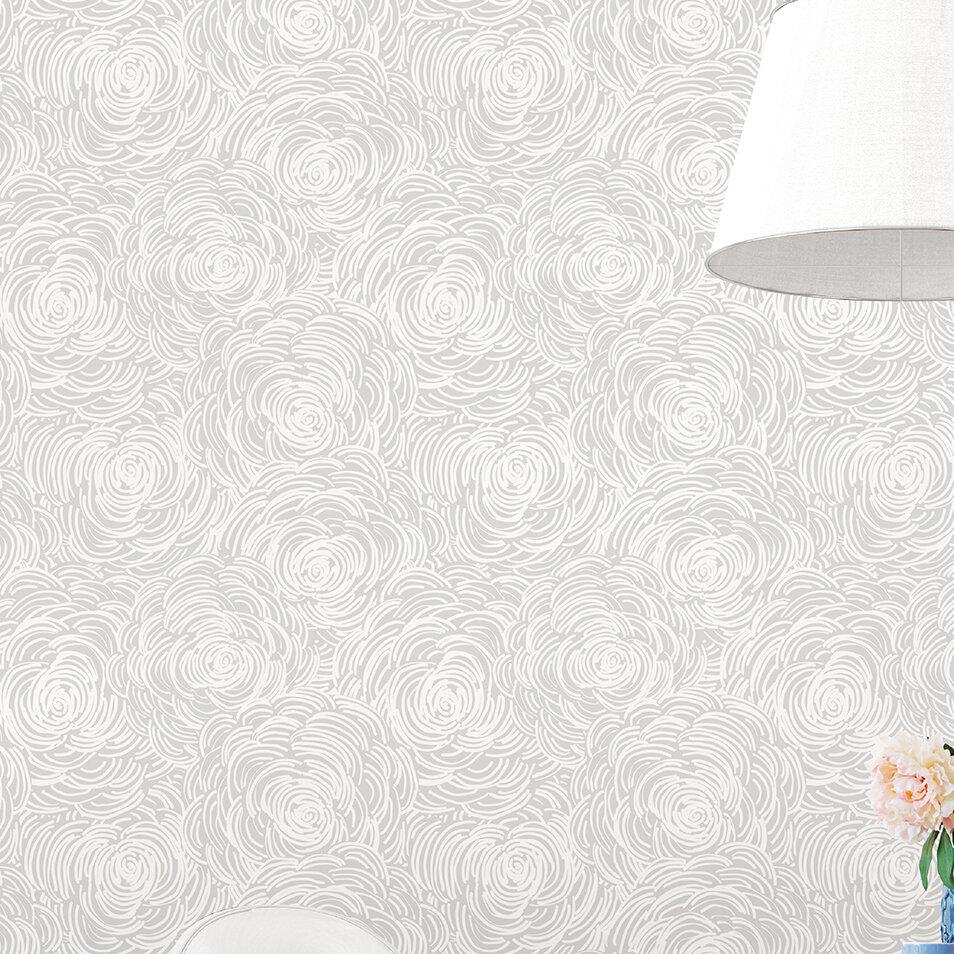 Charlton Home Bouleaux 33 X 20 5 Floral Wallpaper Reviews