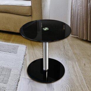 Modern Glass End Table By Ebern Designs