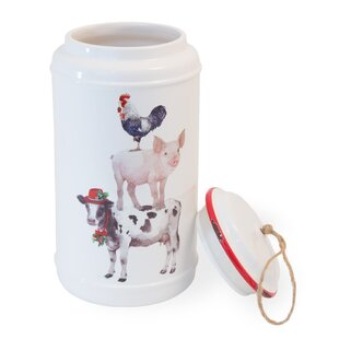 Christmas on the Farm 20 qt. Cookie Jar