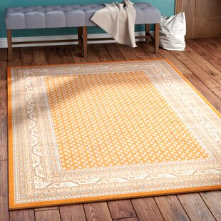 Check Prices Gillam Orange Area Rug By Three Posts