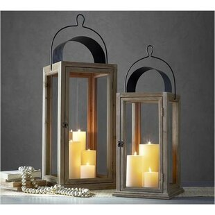 Affordable 2 Piece Wood Lantern Set By Gracie Oaks