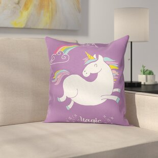 405c25b4d4aa Unicorn Kids Rainbow Square Pillow Cover
