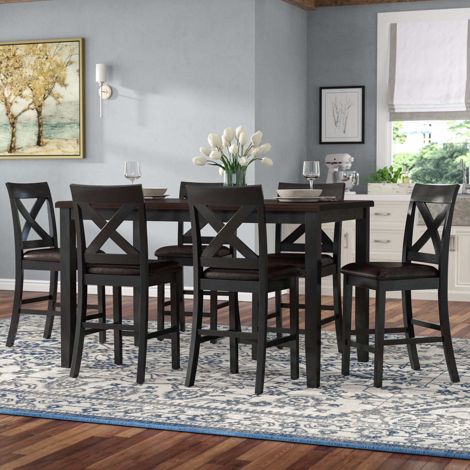 Darby Home Co Nadine 7 Piece Pub Table Set Reviews
