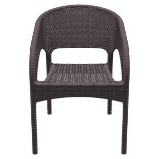 Bay Isle Home Eliza Stacking Patio Dining Chair (Set of 2)