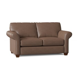 Tianna Genuine Leather 68 Rolled Arm Loveseat by Wayfair Custom Upholstery