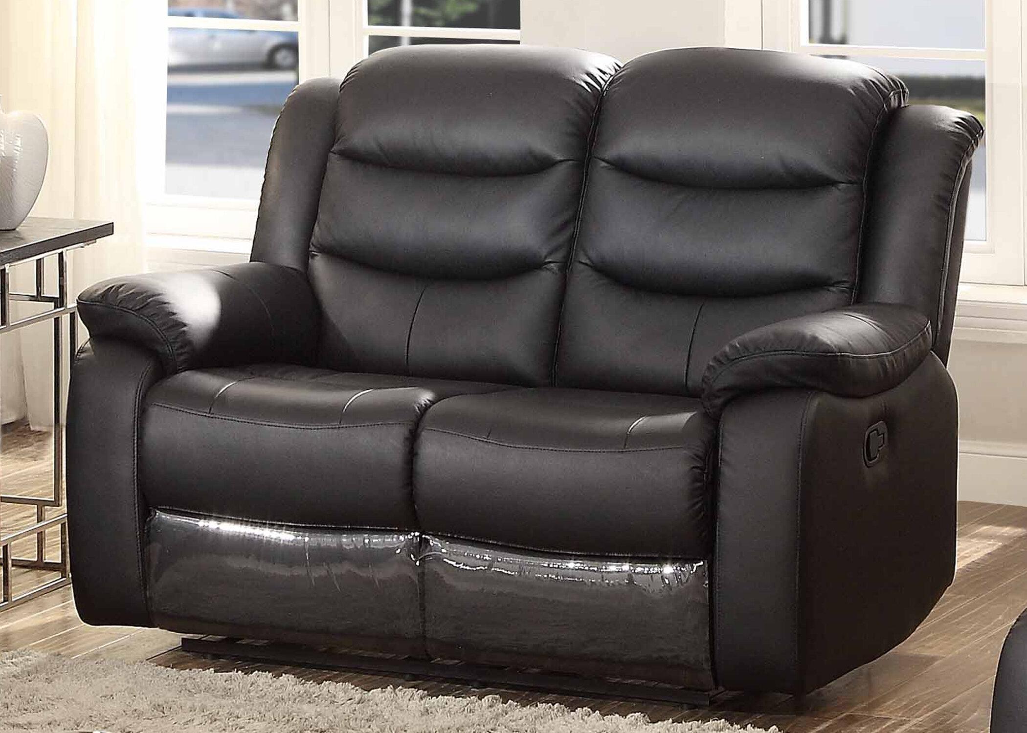 Fantastic Bennett Leather Reclining Loveseat Dailytribune Chair Design For Home Dailytribuneorg