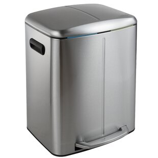 happimess Marco Rectangular 10.5 Gallon Step-On Trash Can with Soft-Close Lid