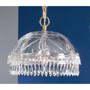 Prague 1-Light Crystal Pendant by Classic Lighting