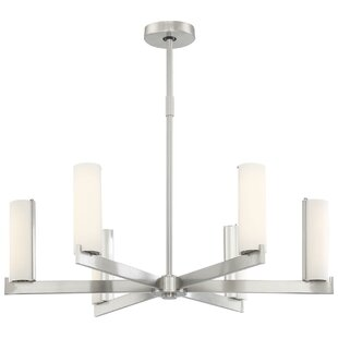 Look for Sidney 6-Light Shaded Chandelier By Wade Logan