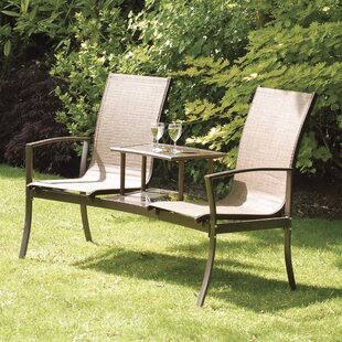 Lyndia Aluminum/Steel Love Seat By Sol 72 Outdoor