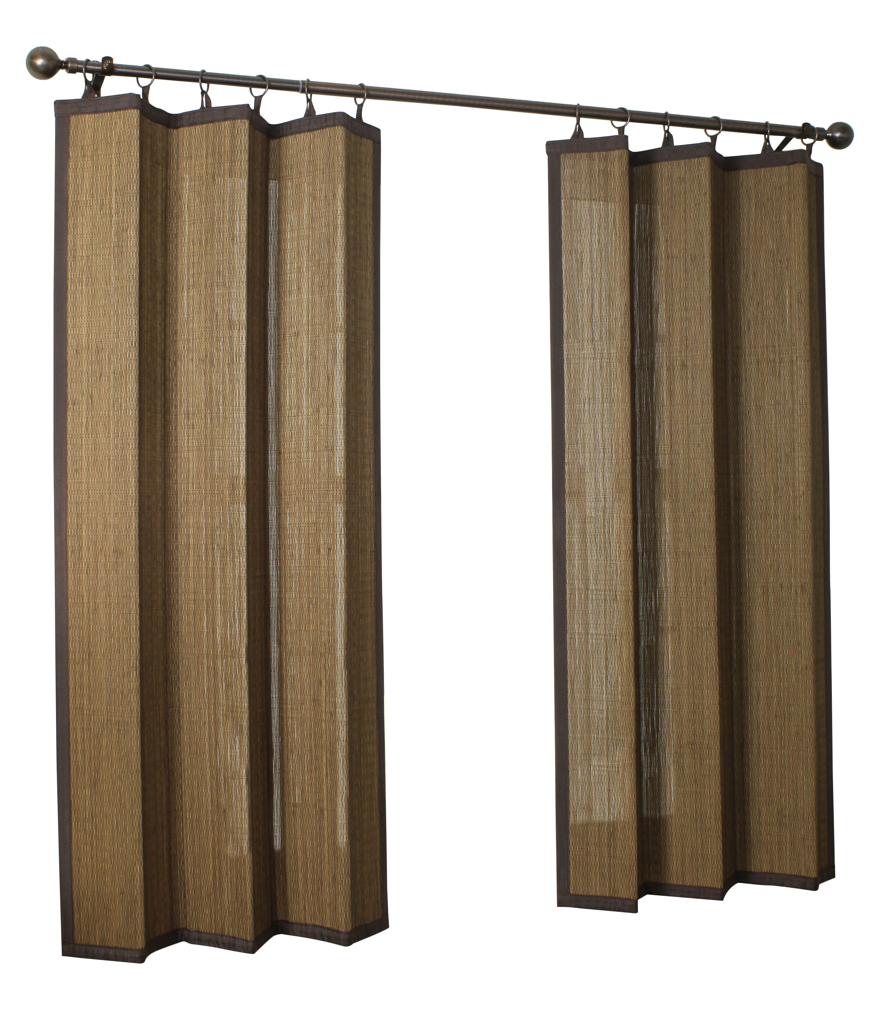 tab bamboo top windows ring drapes back curtains espresso drapery product online interior design