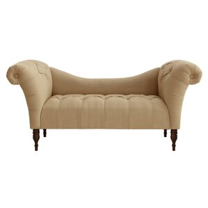 Jacqueline Tufted Settee by Skyline Furniture