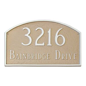 Prestige 2-Line Address Plaque