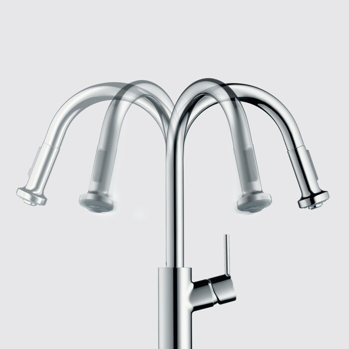 Hansgrohe Talis S Pull Down Single Handle Kitchen Faucet & Reviews ...