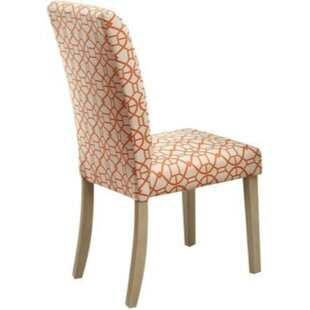 Bashaw Geometric Pattern Upholstered Dining Chair (Set of 2) Charlton Home