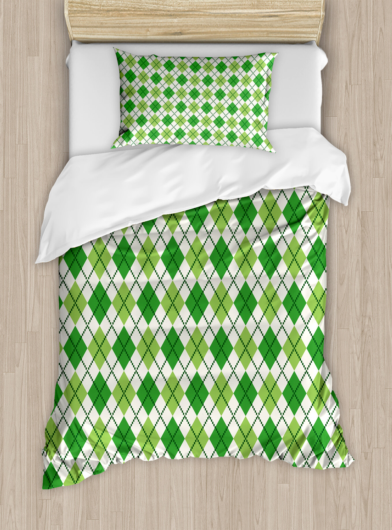 Ambesonne Irish Clical Argyle Diamond Line Pattern With Crosswise Lines Old Fashioned Duvet Cover Set Wayfair