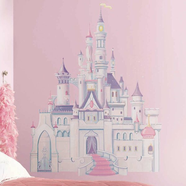 room mates disney princess castle wall decal & reviews | wayfair