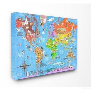 World Map Canvas Kids Wayfair - Big world map for kids