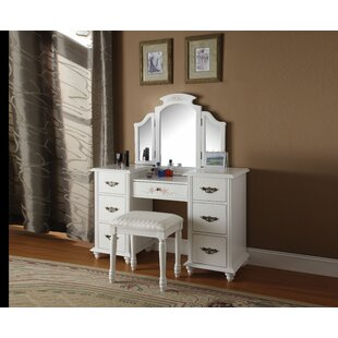 Enfield Vanity Set With Mirror by Canora Grey