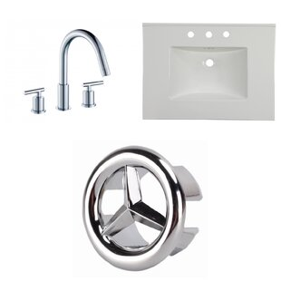 Ceramic 31 Single Bathroom Vanity Top