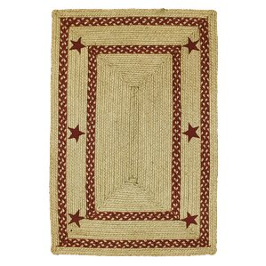Texas Star Jute Braided Red Area Rug