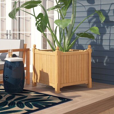 Harpersfield Shorea Wood Planter Box Beachcrest Home Size: 27 H x 27 W x 27 D