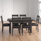 Lolington 7 Piece Extendable Solid Wood Dining Set by Loon Peak®