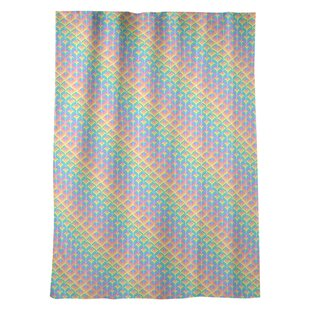 Kitterman Rainbow Scales Striped Sheer Rod Pocket Single Curtain Panel by Ebern Designs