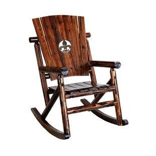Char-Log Fleur de Lis Medallion Single Rocking Chair II Leigh Country