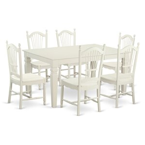 Pennington Traditional 7 Piece Solid Wood Dining Set by Beachcrest Home