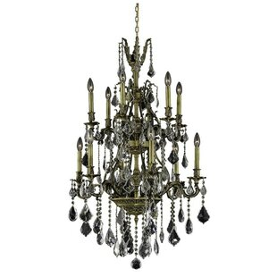 Astoria Grand Almont 12-Light Candle Style Chandelier