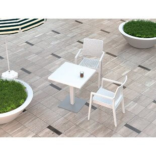 Ester Wickerlook Square Patio Resin Dinin..