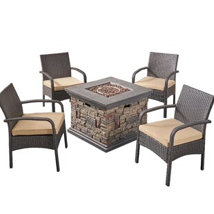 Centerville 5 piece Rattan Sofa Seating Group with Cushions