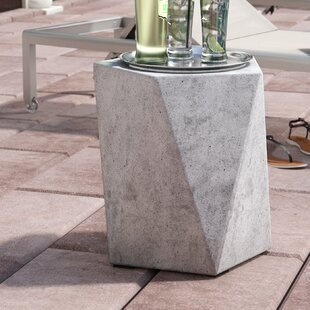 Valenti Concrete Side Table by Mercury Row Cool