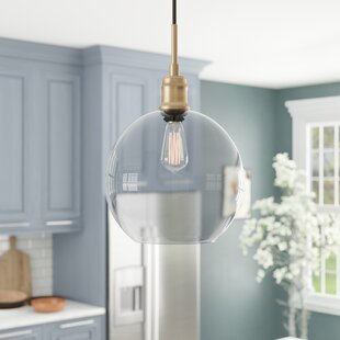 Velia 1-Light Globe Pendant by Wrought Studio