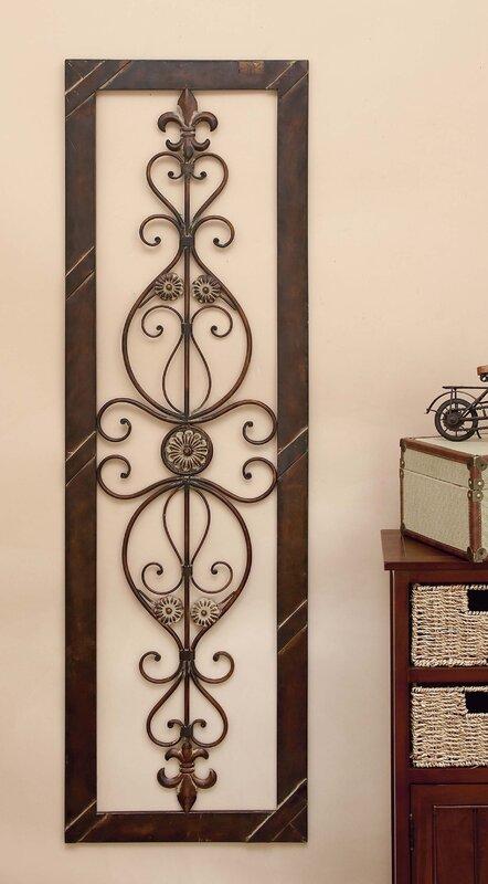Vertical Metal Wall Decor Fleur De Lis Living Vertical Metal Wall Décor Plaque In Brown