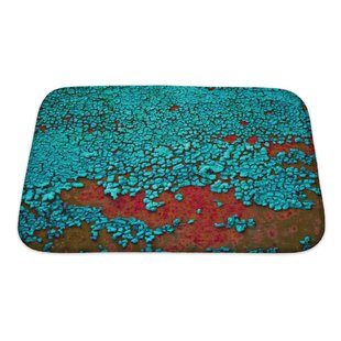 Landscapes Cracked Paint on the Metal Surface Bath Rug By Gear New
