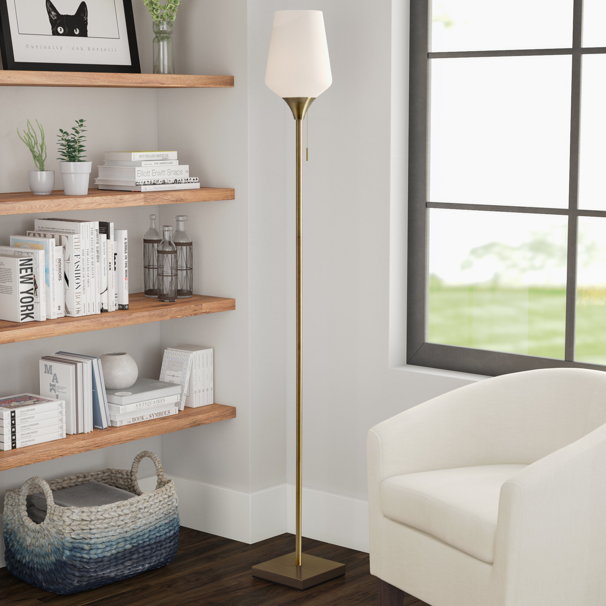 Antique Brass Torchiere Floor Lamps You Ll Love In 2020