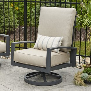 Lyndale High Back Patio Chair with Cushions (Set of 2)