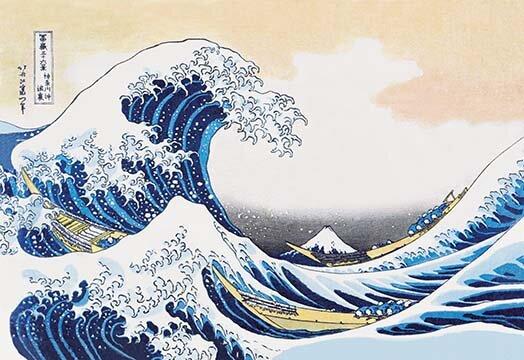 The Great Wave of Kanagawa by Katsushika Hokusai Painting Print