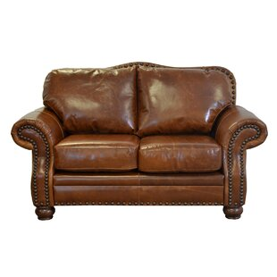 Parker Leather Loveseat by Westland and B..
