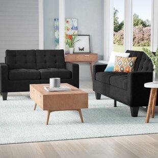 Deals Bateson 2 Piece Living Room Set by Ebern Designs Reviews (2019) & Buyer's Guide