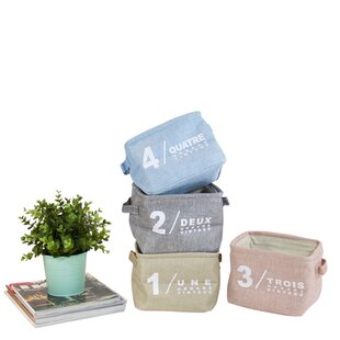 Compare prices Small Size Fabric Laundry Set with Handles (Set of 4) ByLatitude Run