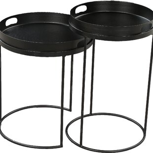 Hooks 2 Piece Nesting Tables by 17 Stories Amazing