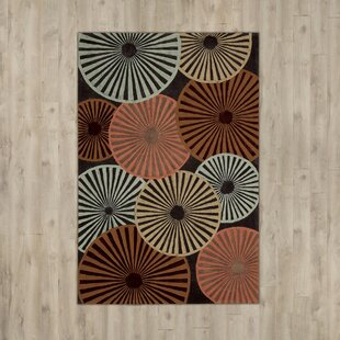 Desousa Hand-Tufted Black/Brown/Blue Indoor/Outdoor Area Rug