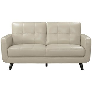 Affordable Price Basilica Genuine Leather Loveseat by Langley Street Reviews (2019) & Buyer's Guide